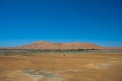 Desert dunes. In merzouga Morocco Stock Photo