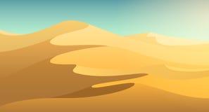 Desert dunes background Stock Photography