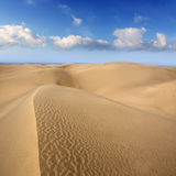 Desert dunes sand in Maspalomas Gran Canaria Royalty Free Stock Images