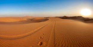 Desert dunes. Steps in desert, sand dunes Stock Images