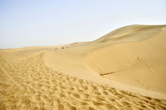Desert. In Dunhuang of China royalty free stock image
