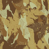 Desert eagle military camouflage seamless pattern Royalty Free Stock Photography