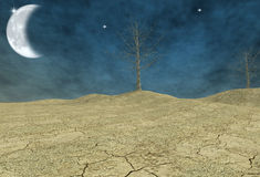 Desert earth. Environment emergency - digital art work Stock Photos