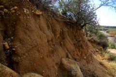 Desert erosion Royalty Free Stock Image