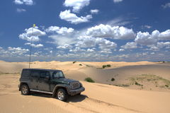 Desert expedition Royalty Free Stock Photo