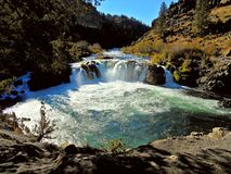 Desert Falls. Steelhead Falls on the Deschutes River near Terrebonne, OR Stock Photo