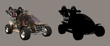 Desert Fighter Car. Digital vehicle for your artistic creations and/or projects royalty free illustration