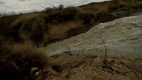 Desert flood stock video footage