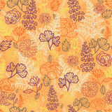 Desert flowers and leaves seamless pattern Stock Photo
