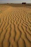 Desert footprints Stock Photo