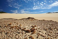Desert on a Fraser island Stock Images