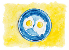 Desert fried eggs Royalty Free Stock Photos