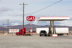 Desert Gas Station Royalty Free Stock Photos