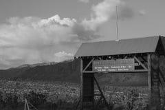 Desert Gate. Ranch gate in desert area near Las Vegas Stock Image