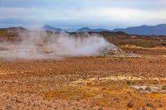 Desert at Geothermal Area Hverir, Iceland