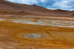 Desert at Geothermal Area Hverir, Iceland Royalty Free Stock Photos