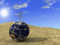 Desert globe royalty free stock images
