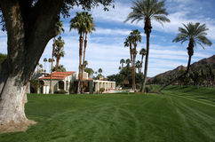Desert golf course home. Home on California desert golf course Stock Photo
