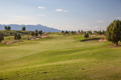 Desert Golf Course Stock Photo