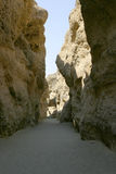 Desert gorge. Shady desert gorge called Sesriem Canyon in namibia during the dry season royalty free stock image