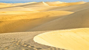 The desert in Gran Canaria Royalty Free Stock Images