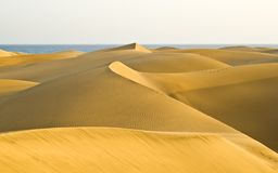 The desert in Gran Canaria Royalty Free Stock Photography