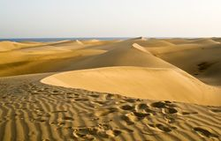 The desert in Gran Canaria Royalty Free Stock Photos