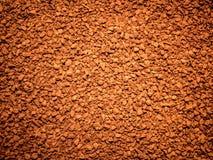 Desert of granulation soluble coffee Stock Image