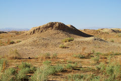 Desert ground dry whell. African landscape, Sahara desert Stock Photography