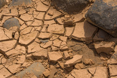 Desert ground and stones Royalty Free Stock Photo