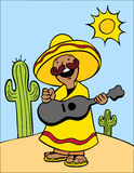 Desert Guitar Royalty Free Stock Image