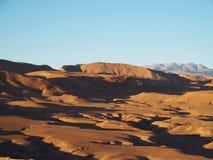 Desert and high ATLAS MOUNTAINS range landscape in central Morocco stock photos