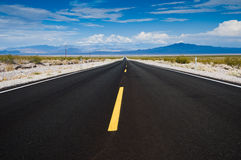 Desert Highway. Nevada highway east of Death Valley National Park Stock Photo