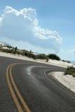 Desert highway. In white sand dunes Stock Images