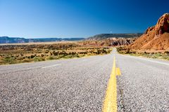 Desert highway. Lone desert highway in New Mexico Royalty Free Stock Image