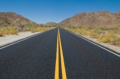 Desert highway Royalty Free Stock Images