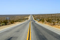 Desert Highway. Highway in California's High Desert stock photography