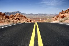 Desert Highway Royalty Free Stock Photo