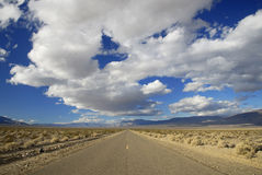 Desert highway in American Southwest Royalty Free Stock Image