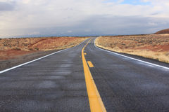 Desert highway in Arizona Royalty Free Stock Photography