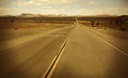 Desert Highway Stock Photo