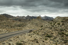 Desert Highway in Monsoon Storm Royalty Free Stock Images