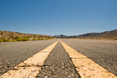 Desert highway Nevada Stock Photography