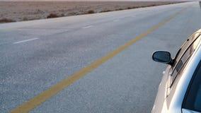 Desert Highway Road 15 in Jordan in evening Royalty Free Stock Images