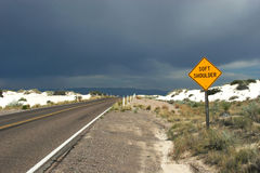 Free Desert Highway Road Sign Royalty Free Stock Photo - 1389305