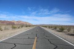 Desert Highway The Road to Nowhere. The desert highway to Death Valley, California Stock Images