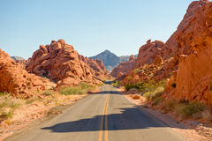 Desert highway scenic Stock Photography