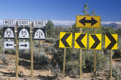 Desert highway signs Stock Image