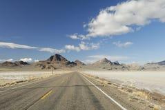Desert highway in Western Utah Stock Images