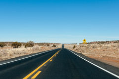 Desert higway road Royalty Free Stock Images